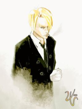 Black Leg Sanji by vevew