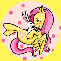 Fluttershy button by CaptainLemmo