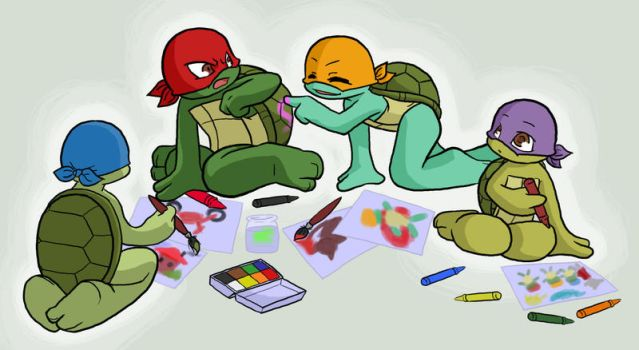 TMNT: Painting by NamiAngel