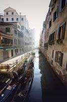 Gondola's in Venice by Michaella-Designs