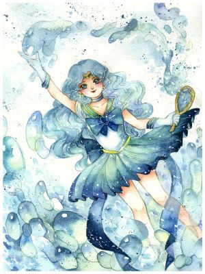 Commission: Sailor Neptune Michiru Kaioh by Lovepeace-S