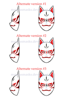 Custom Kakashi ANBU mask alternate v. | COMMISSION by MajorasMasks