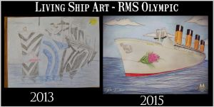 Living Ship Art Style Comparison - I by RMS-OLYMPIC