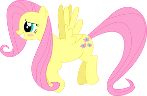 Fluttershy Blush by Alaxandir
