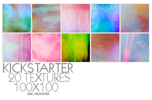 20 Textures, 100x100 by she-rockstar