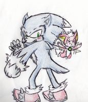 Weresonic And Chip by 1Apple-Fox1