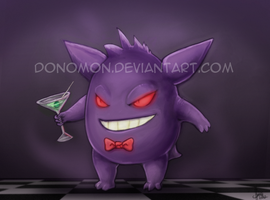 A Fancy Gengar by Donomon