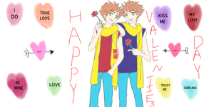 Happy Valentine's Day From The Hitachiin Twins by epicShadowdragon