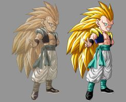 Gotenks SSJ3 restoration by orco05