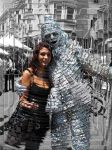 Silver Man and Dark Beauty - Hypercubed by Grebo-Guru