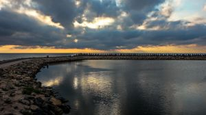 Morning light from lagoon by EnacheArmand