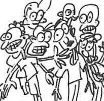 Cartoon Crowd by kennypick