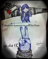 Palestine tomorrow will be free. (ballpoint pens) by crazy4demi