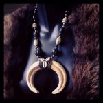 Tribal Warthog Tusk Necklace by Elorhan