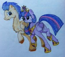 Princess Twilight Sparkle and Flash Sentry by RarityForever