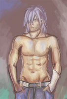 Shirtless Riku by Kelsi-sama
