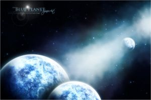 Blue Planet Space Art by Gokulancien