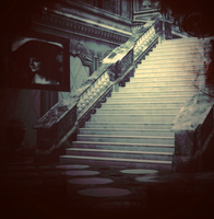 Stair Case Background 01 by angellella-stock