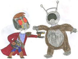 Guardians vs Space Monsters 1 by SithVampireMaster27