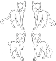 Free cat lineart by 5tars