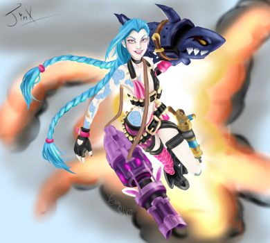 Wanna play? (Jinx- League Of Legends) by Evymonster9406