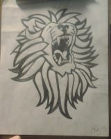 Lion Drawing by lizzyj2217