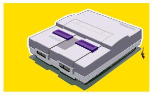 SNES Vector by KawaiiUniverseStudio