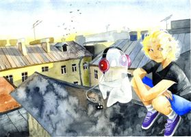on the roof by Gai-Gaal