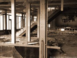 inside ruined hotel by ibisal