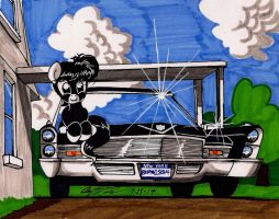 Junior and the Cadillac by newyorkx3