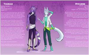 Thoran and Ry Ref Sheet by Ace-of-Intuition