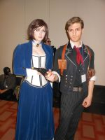 Anime Boston 2014: Booker and Elizabeth by JackEmerald