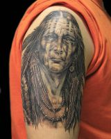 native indian by primitive-art