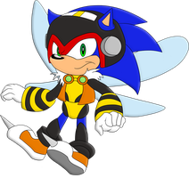 COLOURED: Sonic The Bee-Hog by MattMiles