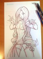 Commish 116 WIP 02 by RobDuenas