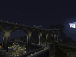 Minecraft Bridge of Awesomenes by drphill2010