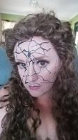 Cracked Porcelain Doll Makeup by gurihere