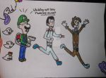 luigi and the ghostbusters by Jellybabiebunny
