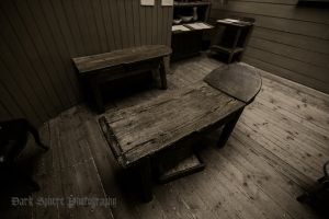 19th century operating table with blood box by jasonthe5150