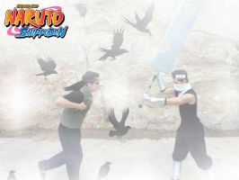 Fight to the death of Zabuza Momochi vs Aoba by IGrayI