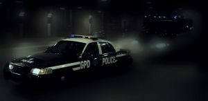 Ford Crown Vic GPD in tunnel by aezakmiNemesis