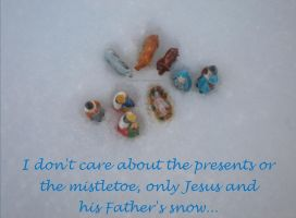 Jesus and His Father's snow... by Pokey57