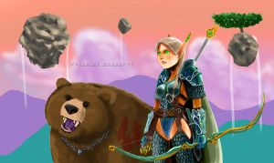 Blood Elf Hunter in Outland by lazyseal8