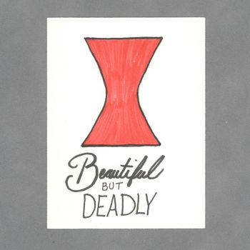 Beautiful But Deadly Art Card by WildeMoon