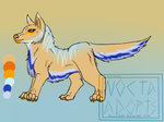 Beach themed wolf adopt - OPEN by NoctaAdopts