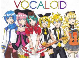 Tributo vocaloid by AliZS1
