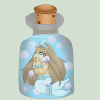 Mermaid In A Bottle by Sakurarmarie