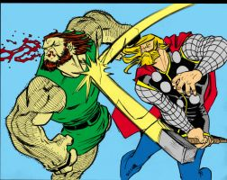 Thor vs Ulik by shushubag