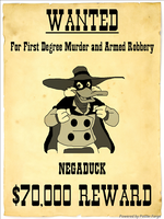 Negs Most Wanted Poster by DarkwingFan
