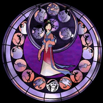 ::Stained Glass Mulan:: by Leah-Chan